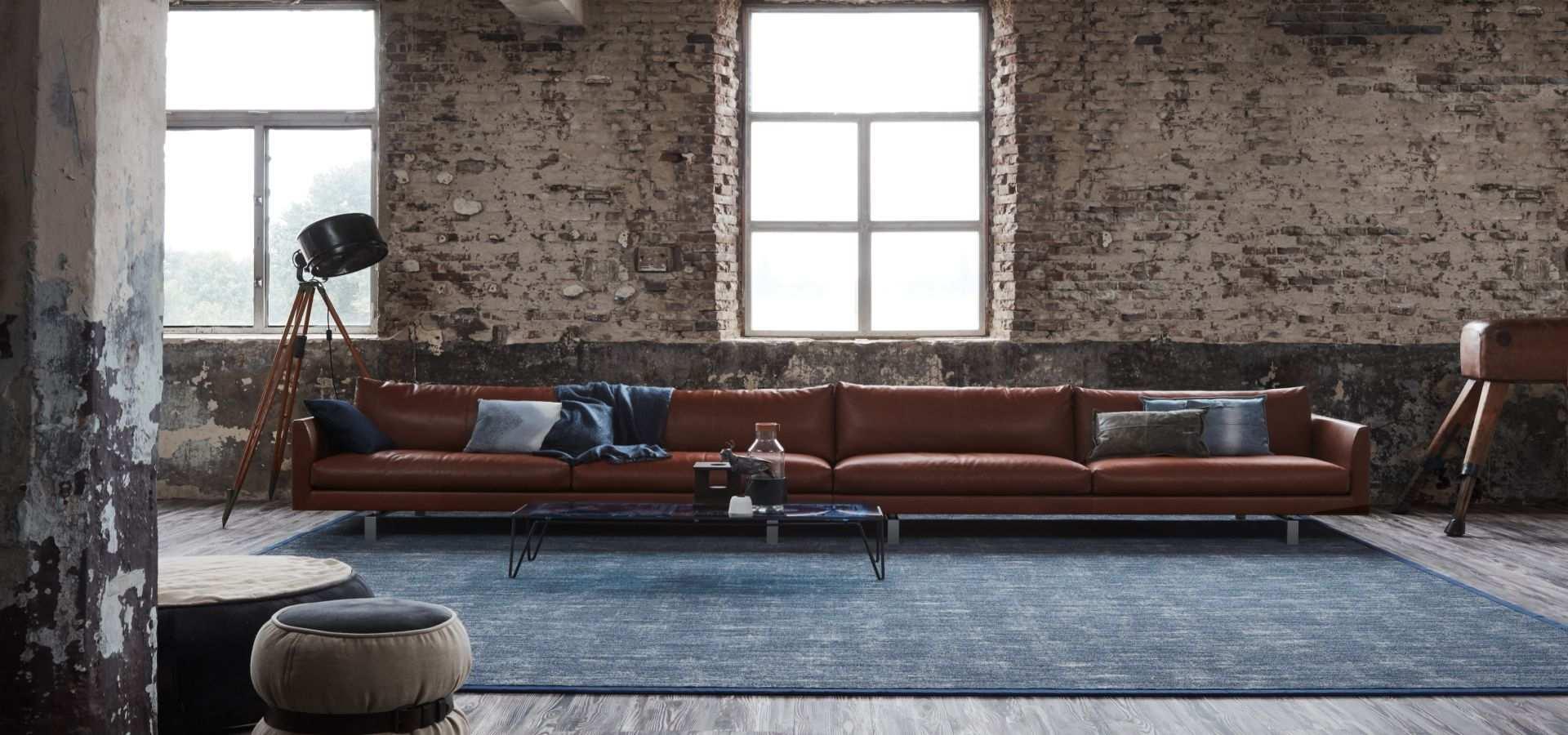 Bild Wohnzimmer Teppich Denim
