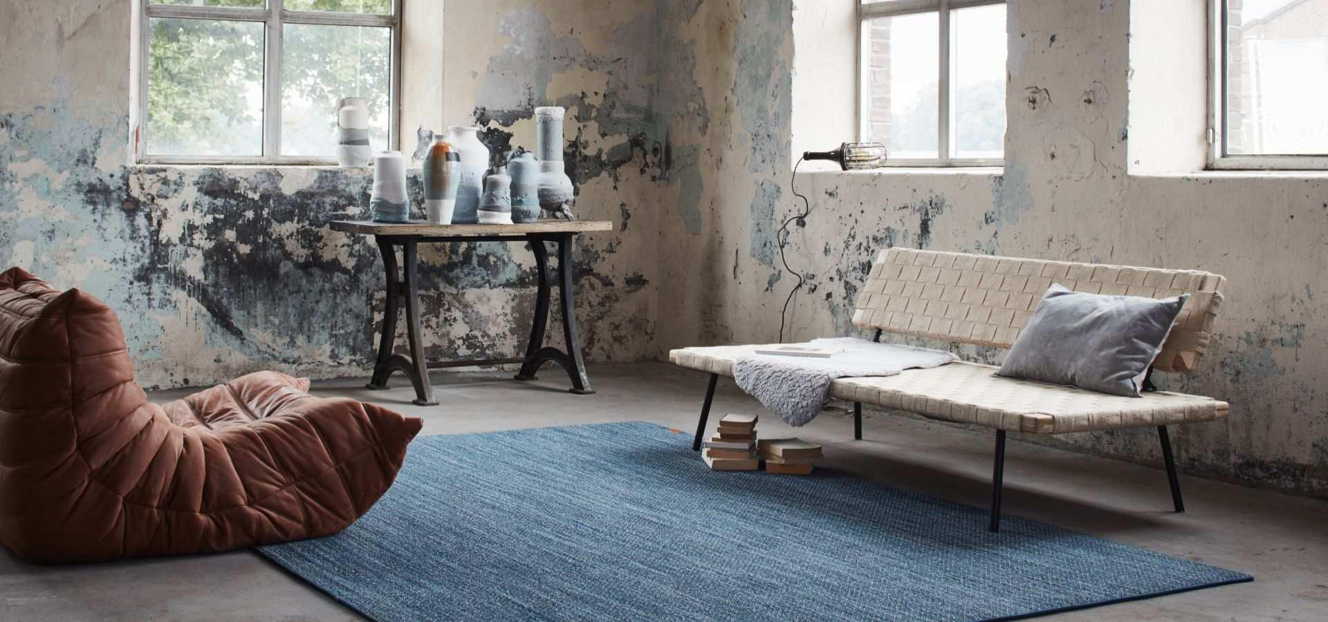 Bild Wohnzimmer Teppich Denim light