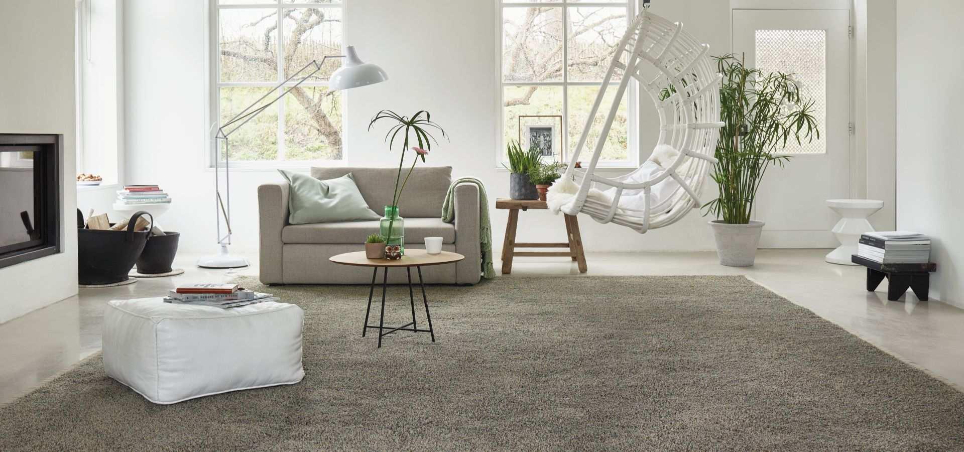 Bild Wohnzimmer Teppichboden grau beige meliert
