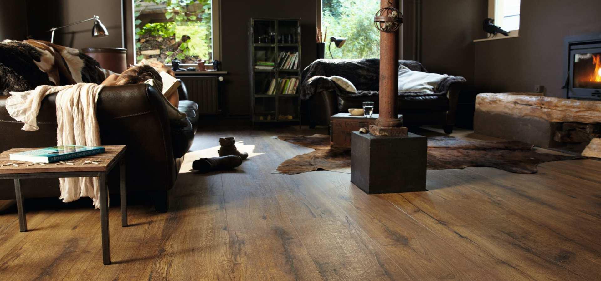 Bild Wohnzimmer Laminat Eiche heritage rustic