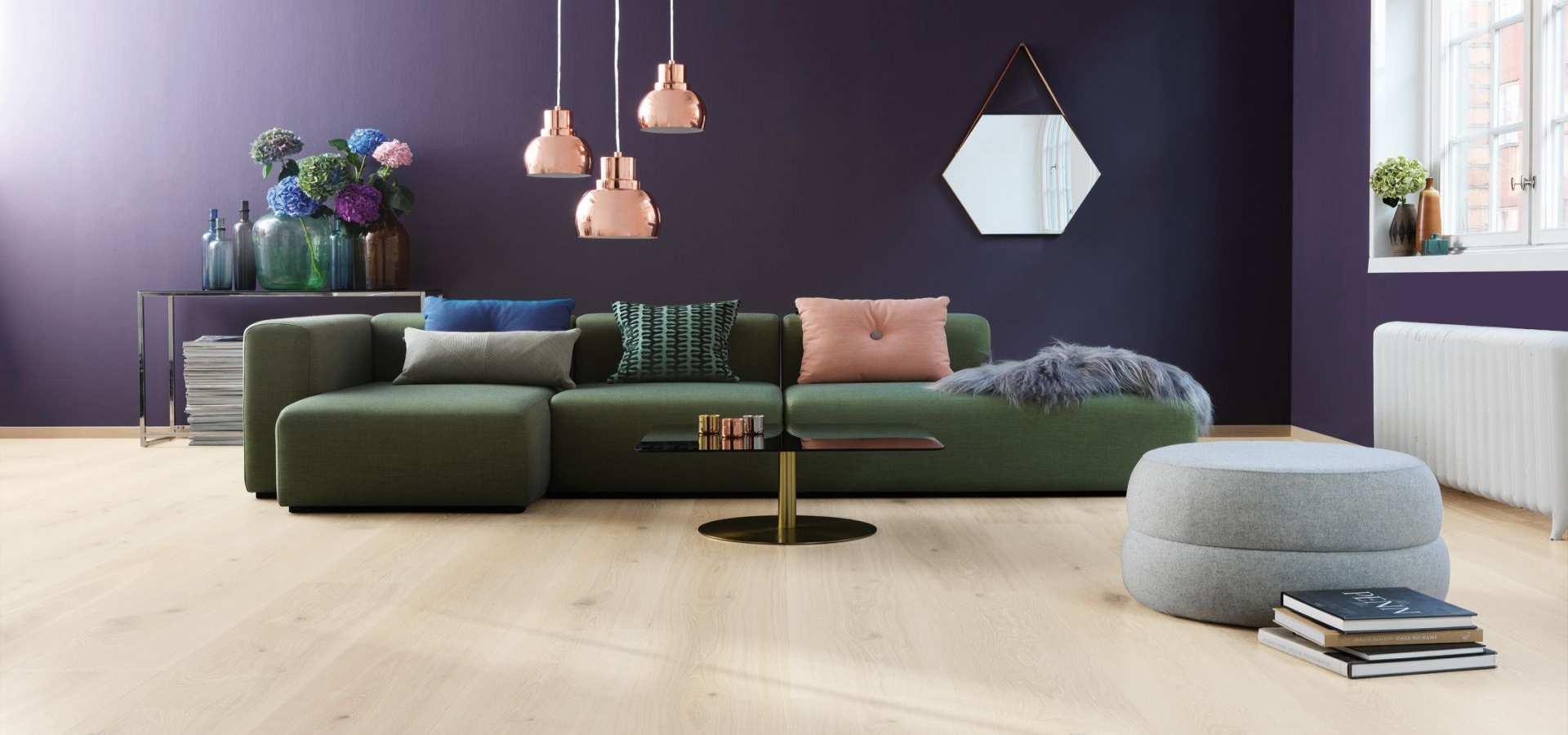 Bild Wohnzimmer Parkett Landhausdiele Eiche elegance