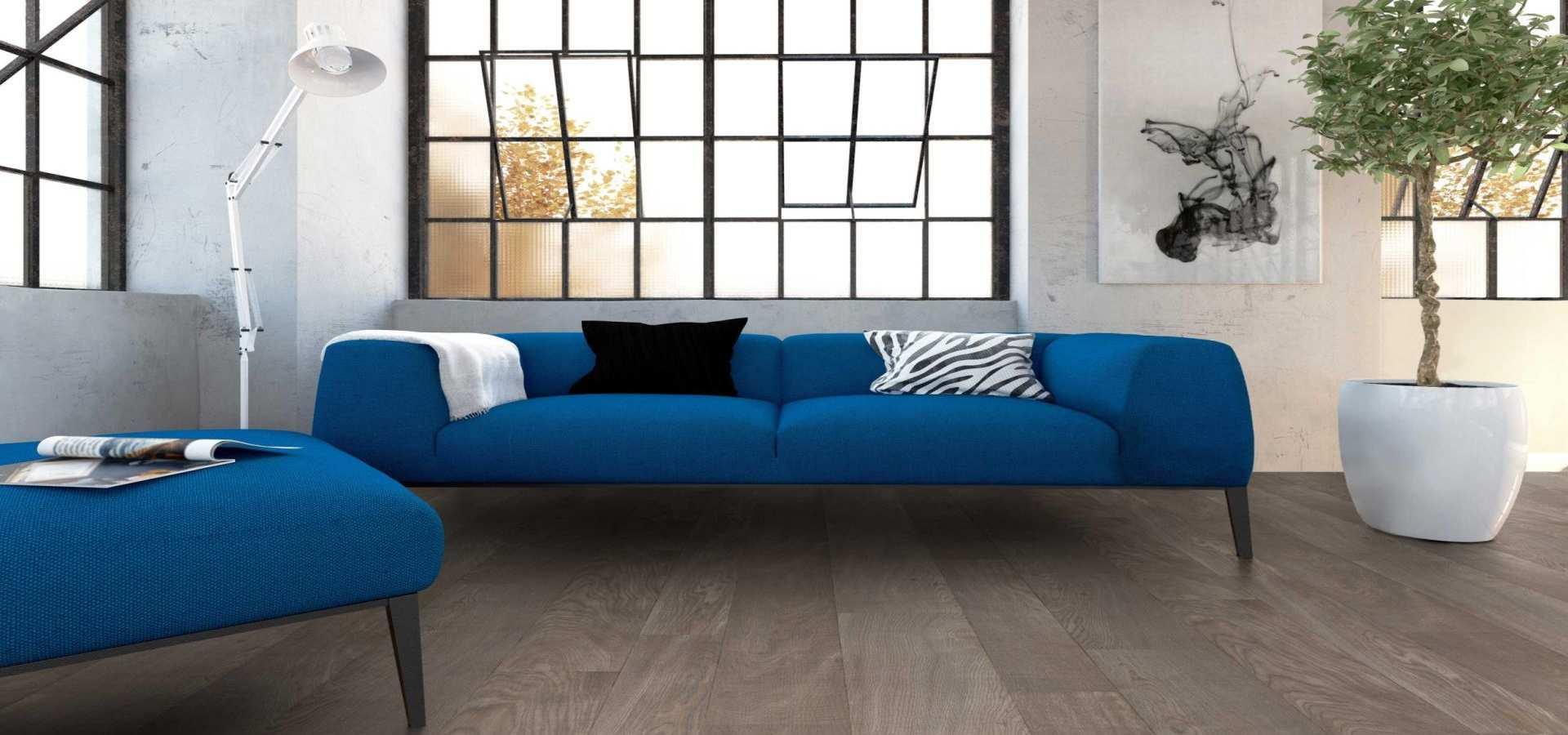 Bild Wohnen CV Boden Wohnzimmer Holzoptik braun