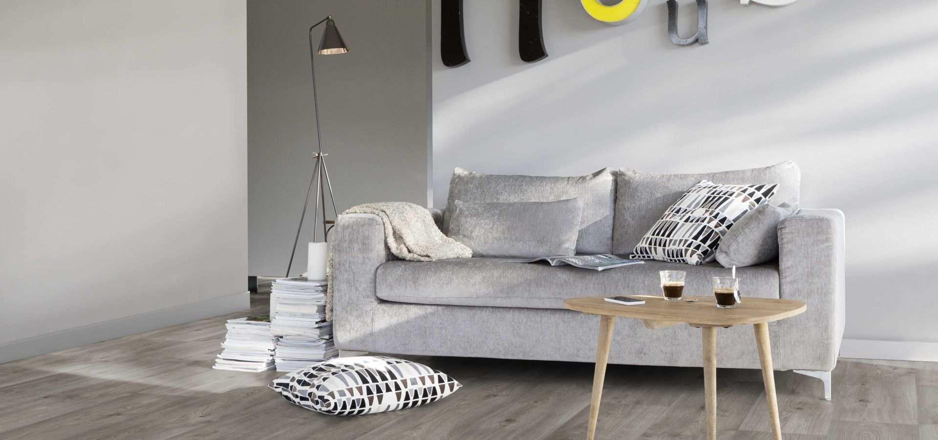 Bild Wohnen CV Boden Wohnzimmer graue Holzoptik