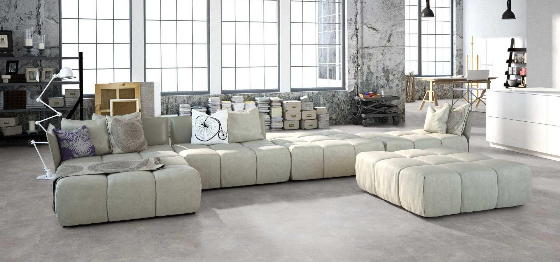 Bild Wohnen Designbelag grauer Stein Wohnzimmer