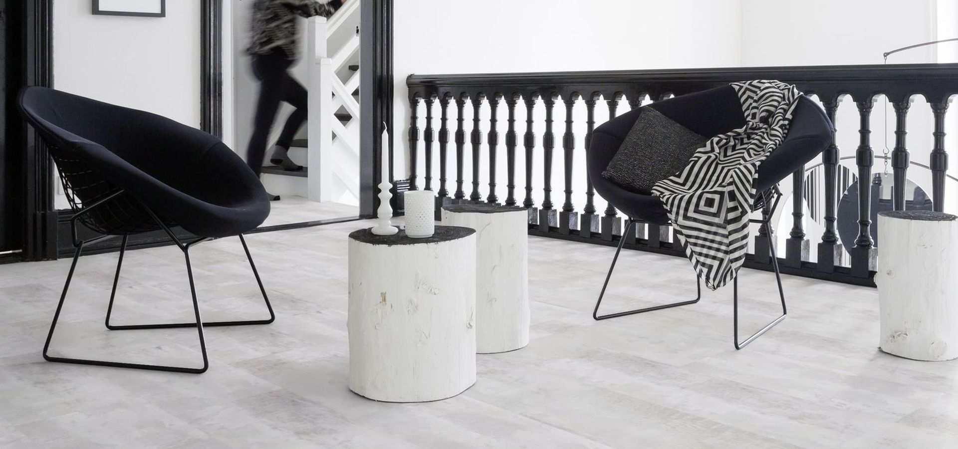 Bild Wohnen Designbelag Marmoroptik weiß Wohnzimmer