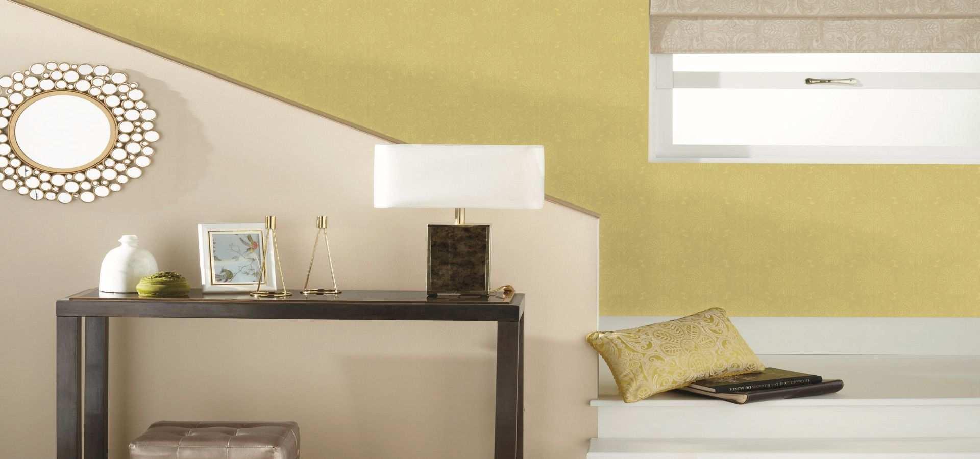 Bild Tapete Treppenaufgang gelb