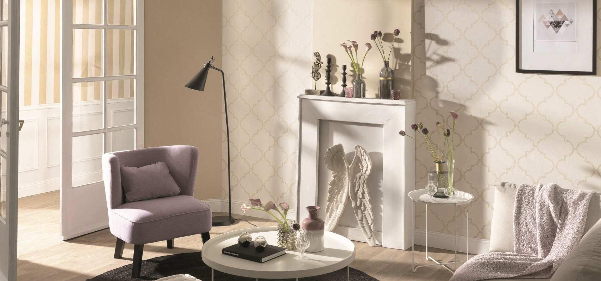 Bild Tapete Wohnzimmer beige