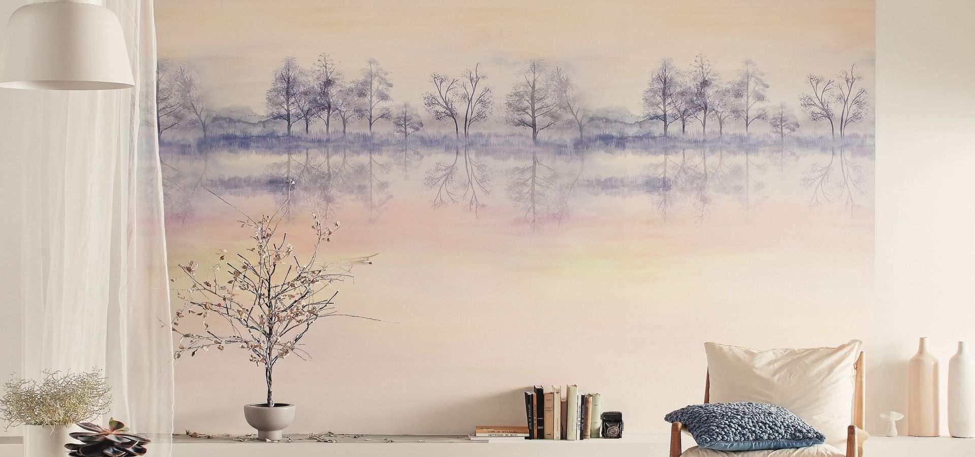 Bild Tapete Wandbild Bäume batik