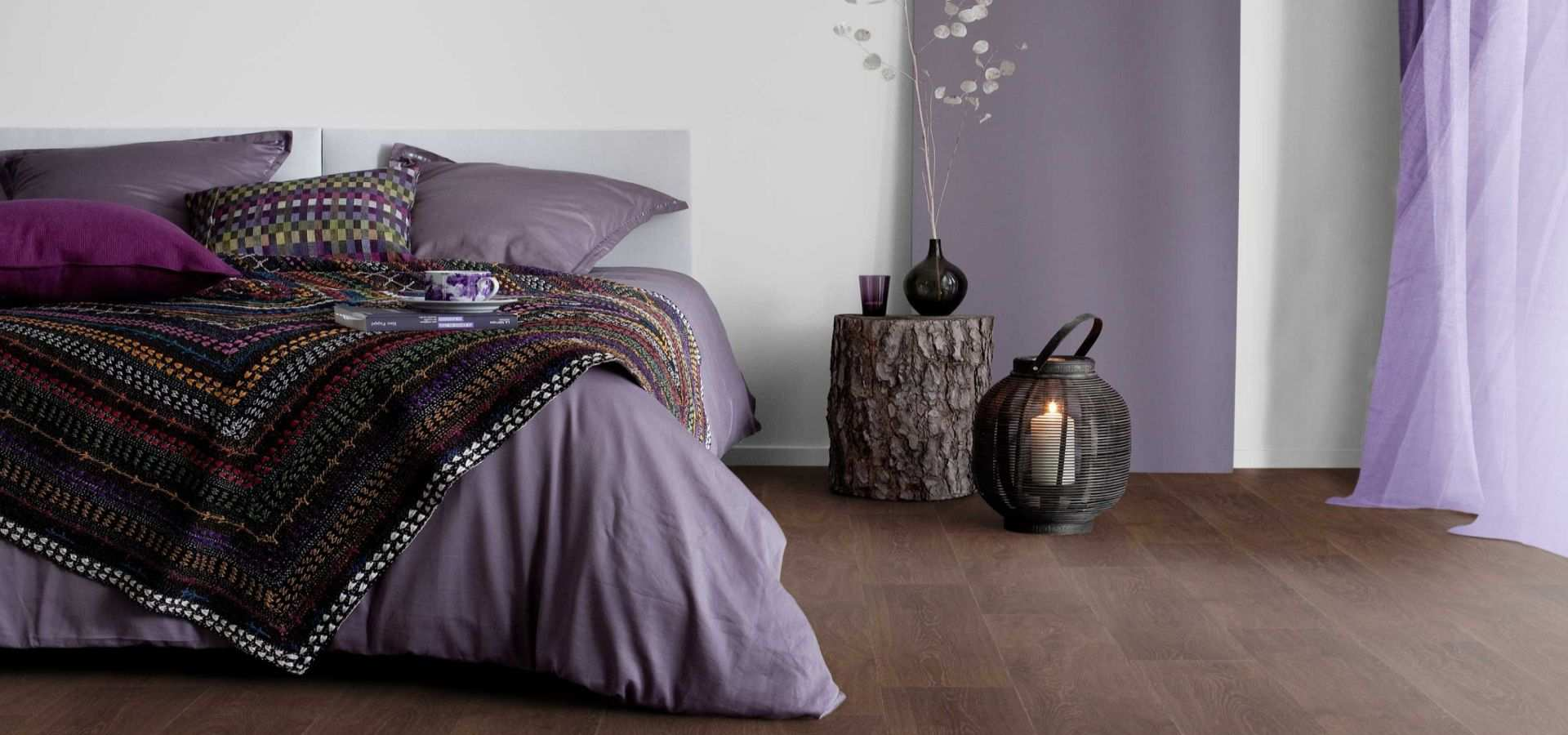Bild Schlafzimmer CV Belag Holzdesign choclate