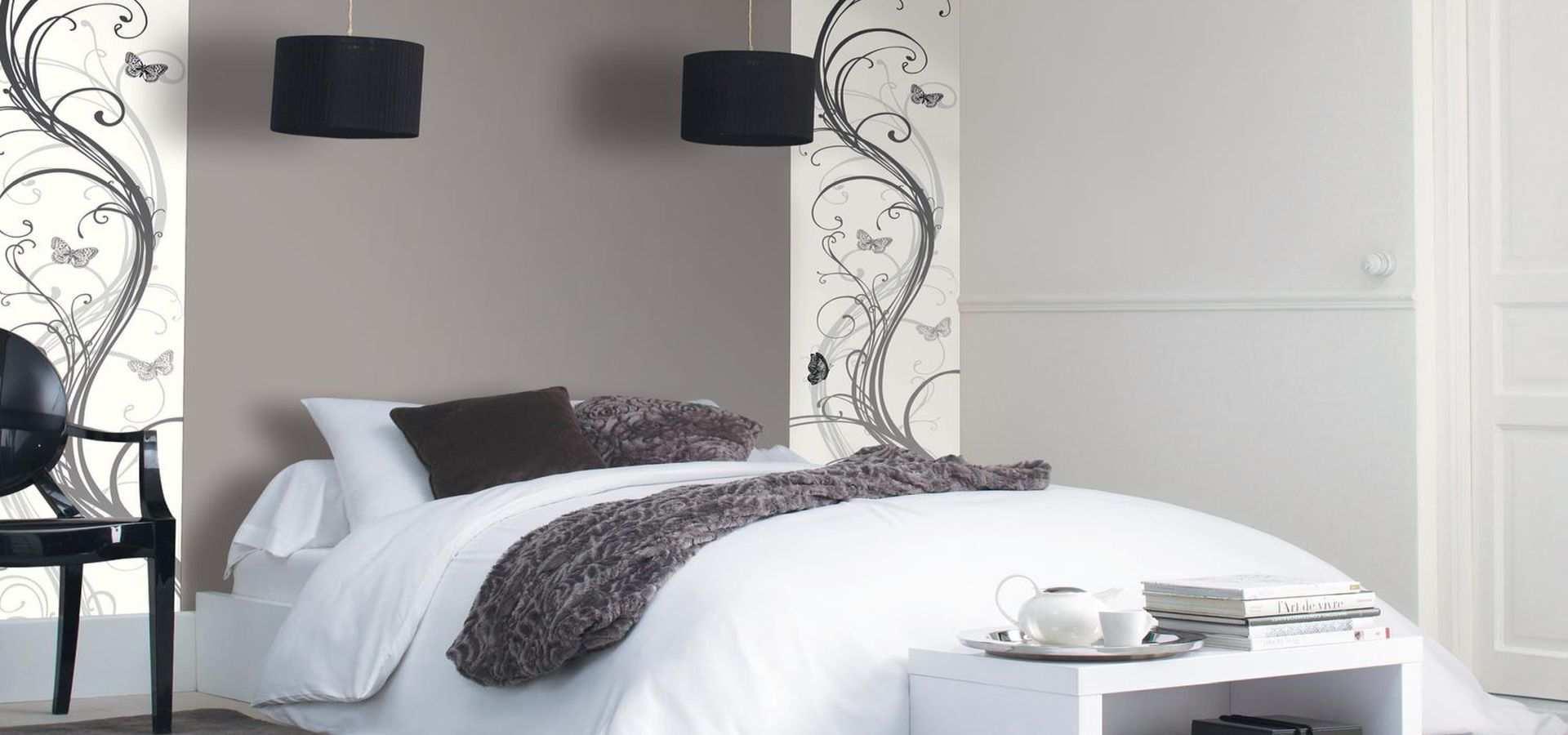 Bild Schlafzimmer Tapete Ranke mit Schmetterling