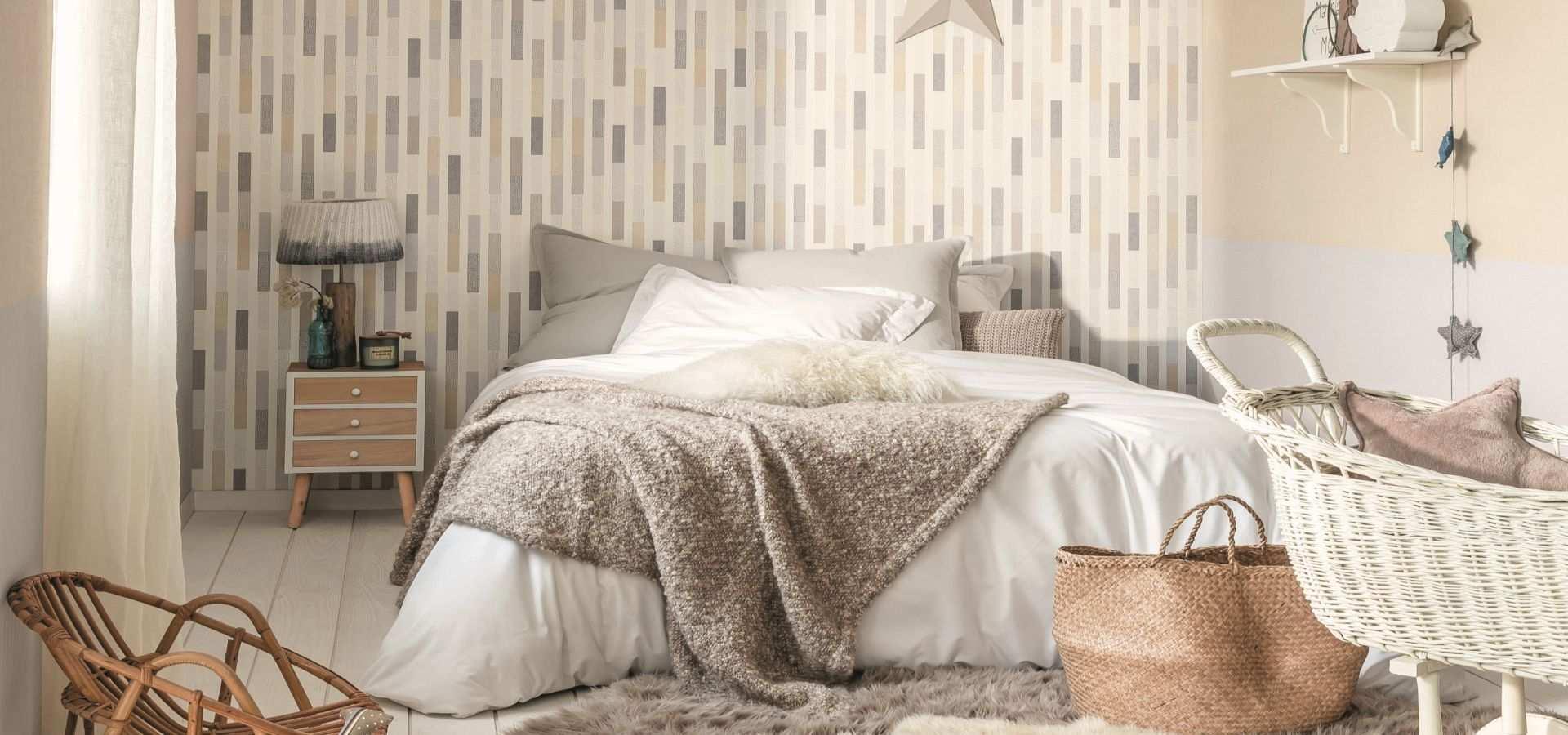 Bild Schlafzimmer Tapete Streifen