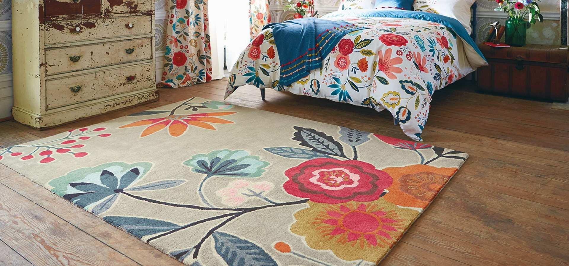 Bild: Schlafzimmer mit Teppich Caspia Auburn