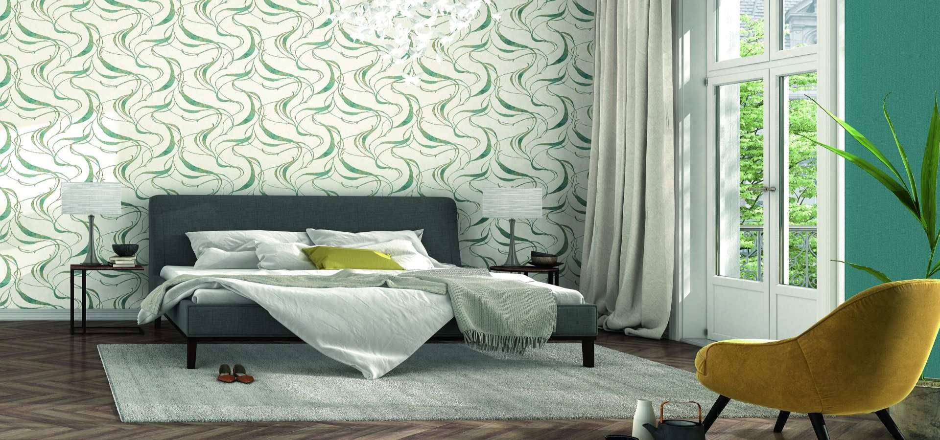 Bild Schlafzimmer Tapete natur grün