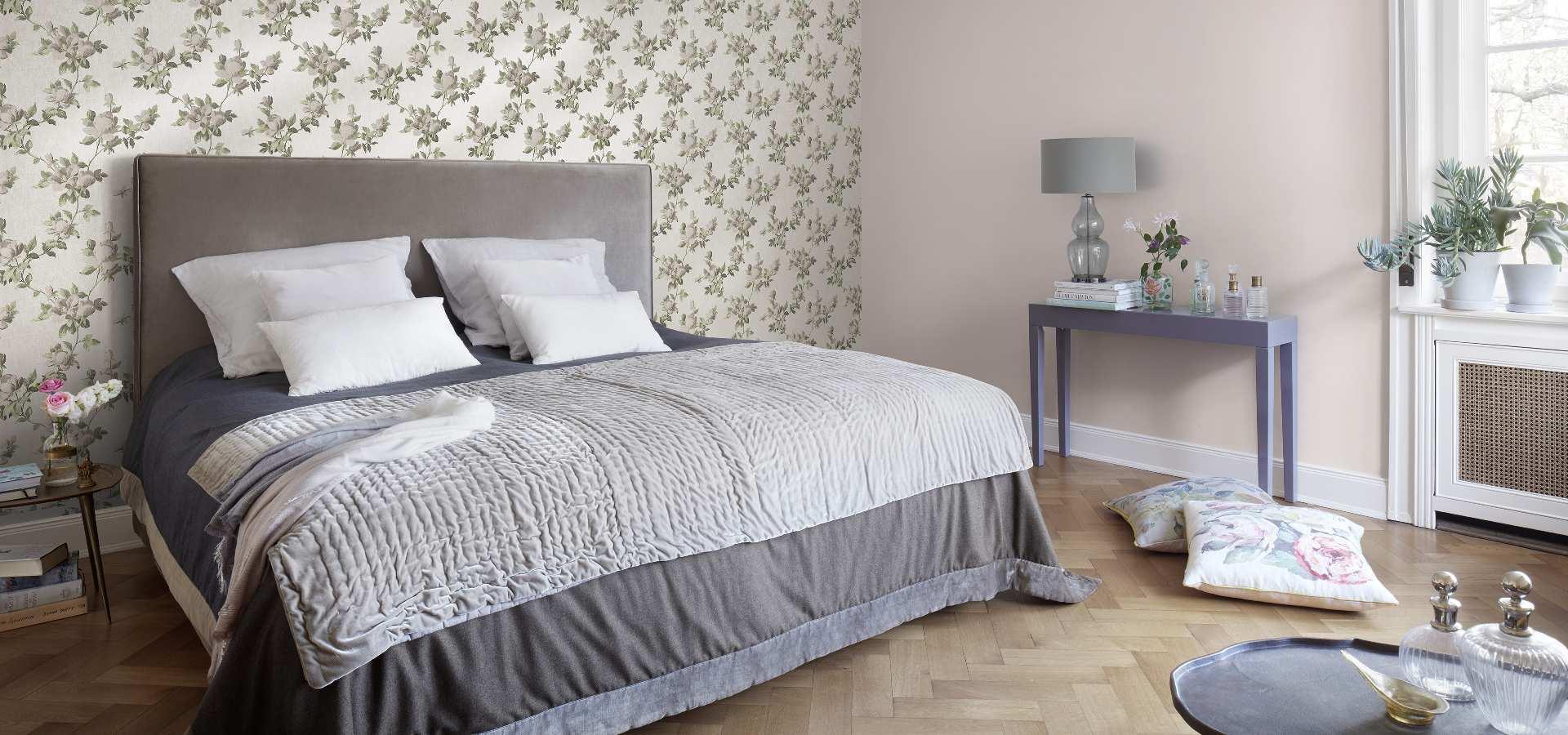 Bild Schlafzimmer Tapete klassisch floral