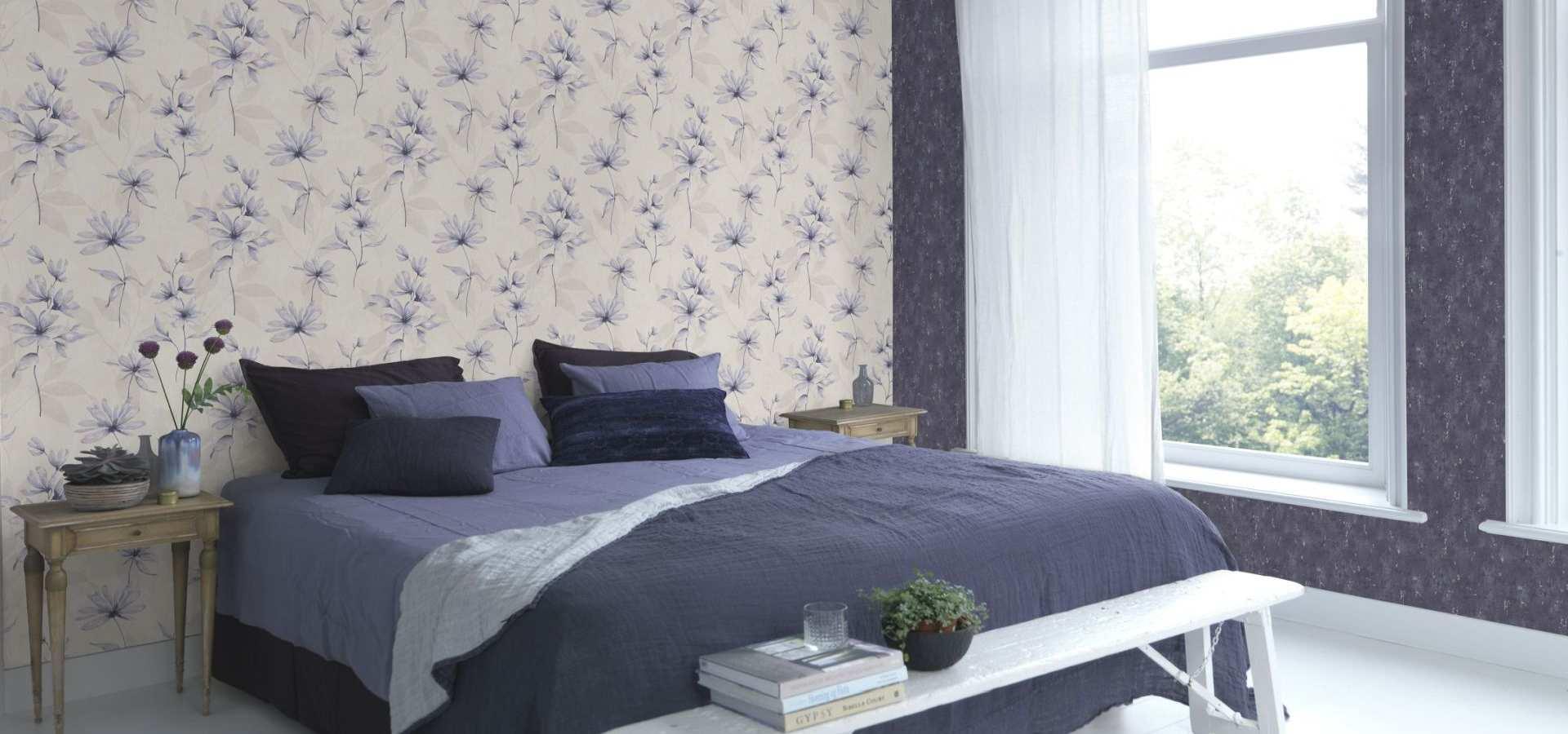 Schlafzimmer Tapete Dahlie