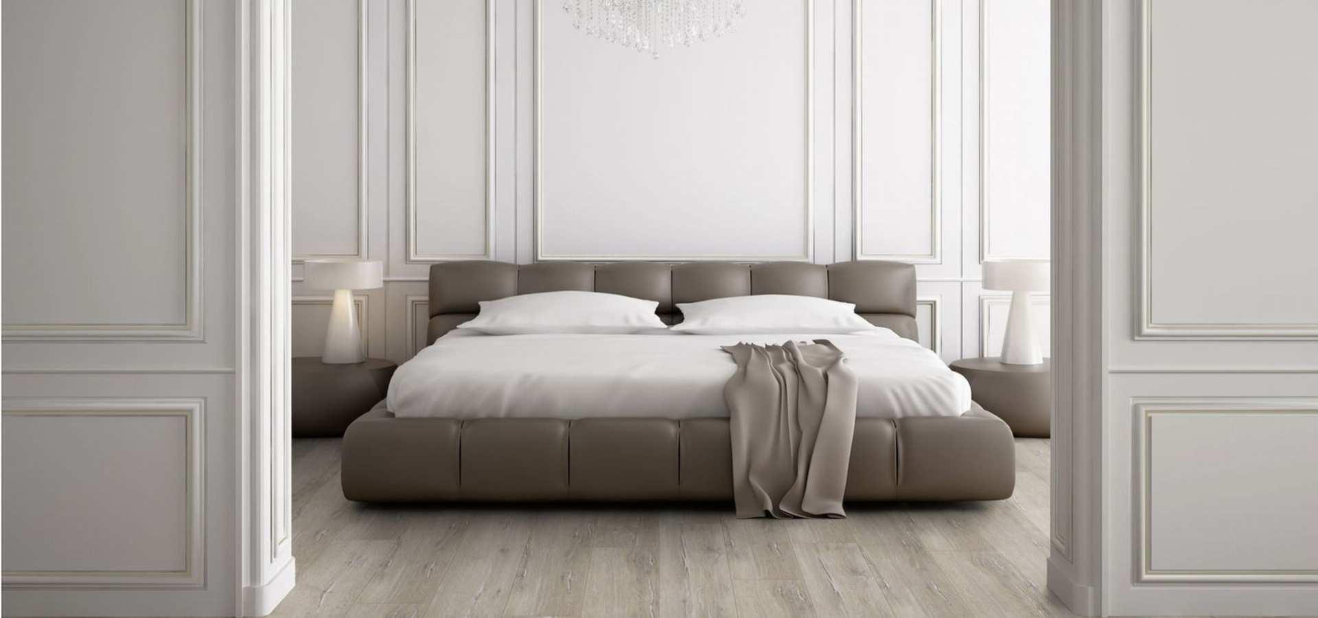 Bild Schlafzimmer Designbelag Holzplanken natural