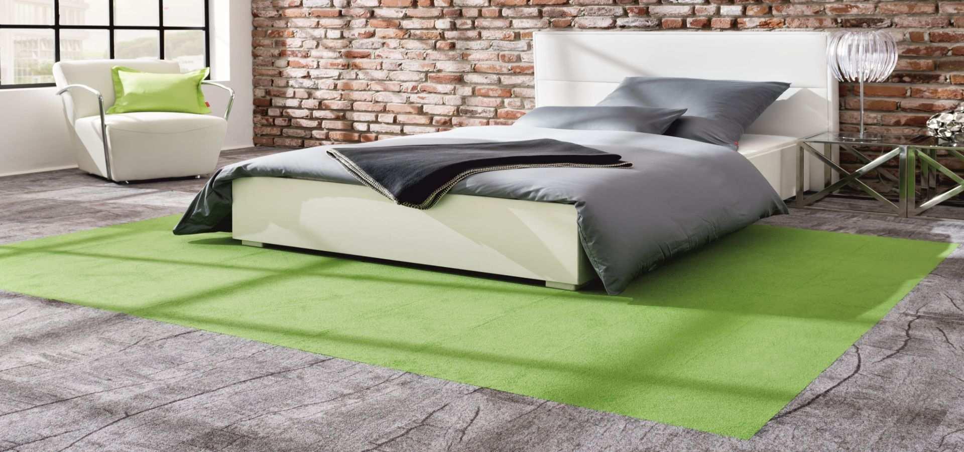 Bild Schlafzimmer Teppichboden Module Holzoptik