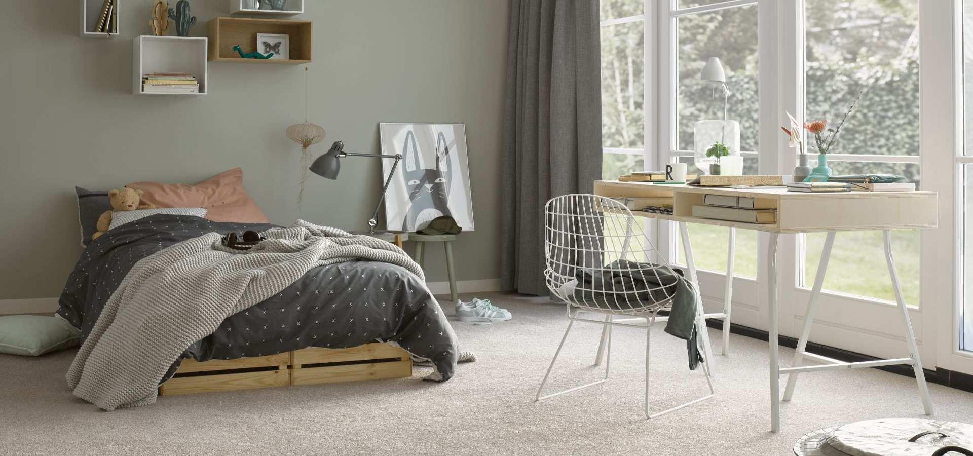 Bild Schlafzimmer Teppichboden Soft beige
