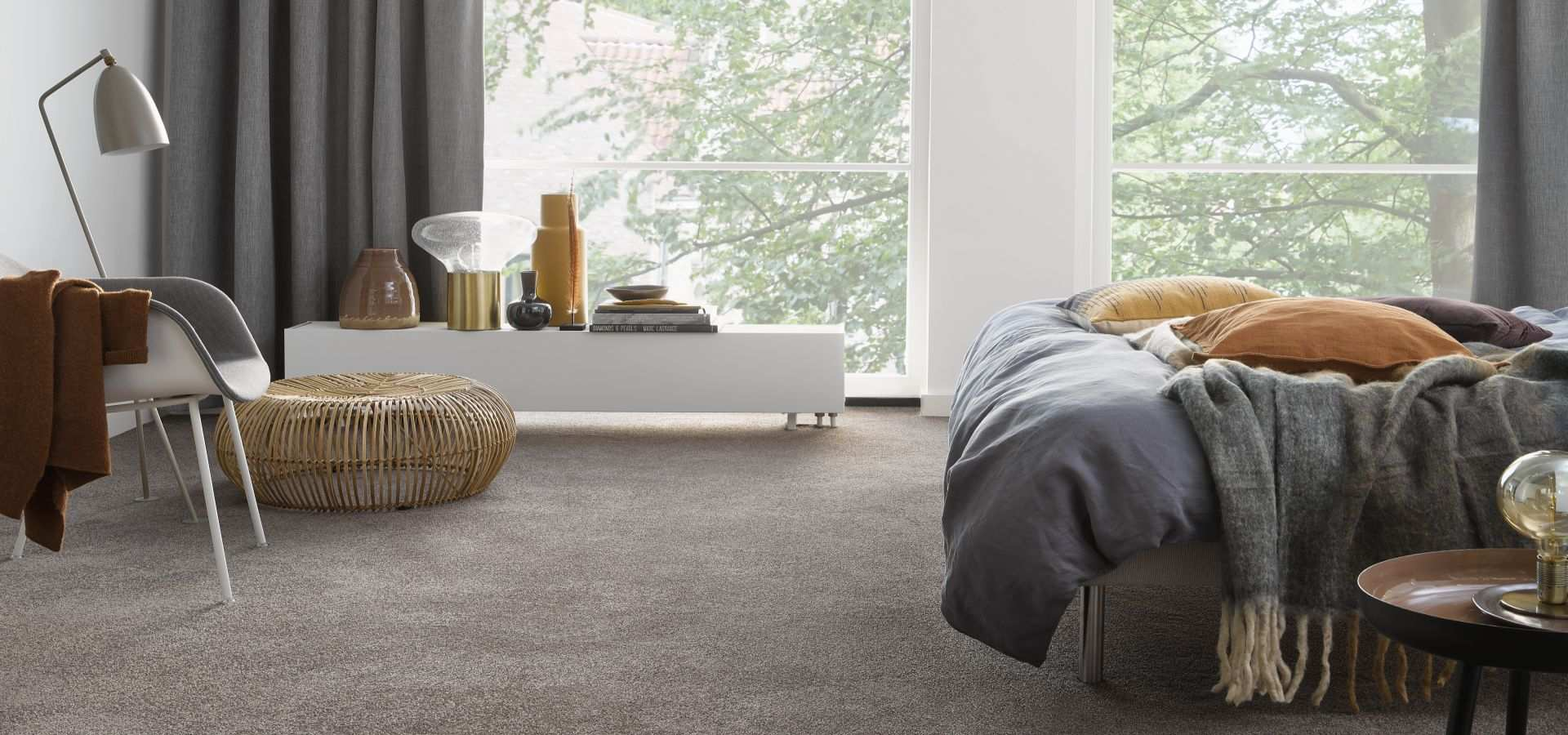 Bild Schlafzimmer Teppichboden Soft dunkelbeige