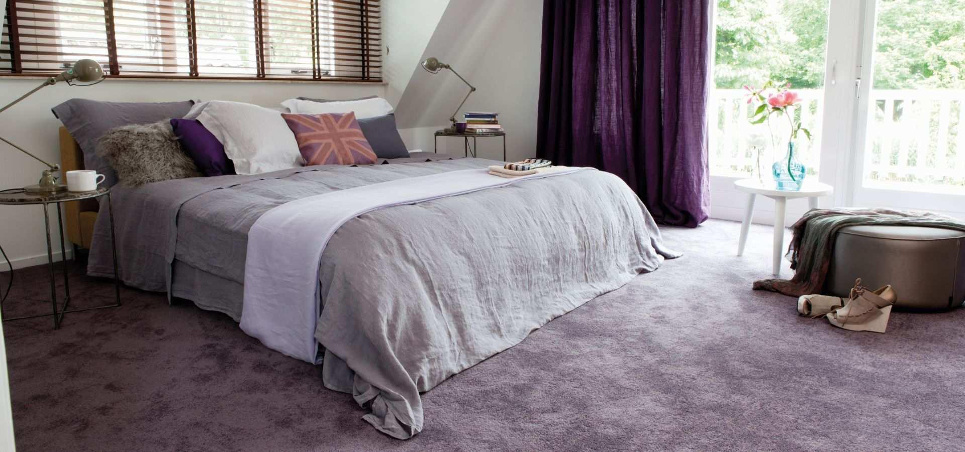 Bild Schlafzimmer Teppichboden Soft Touch lila