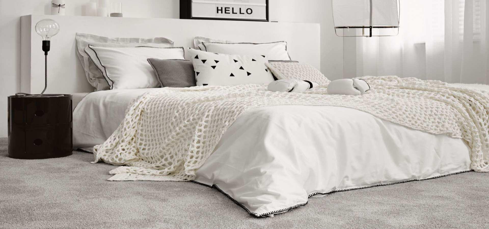 Bild Schlafzimmer Teppichboden Soft weiß