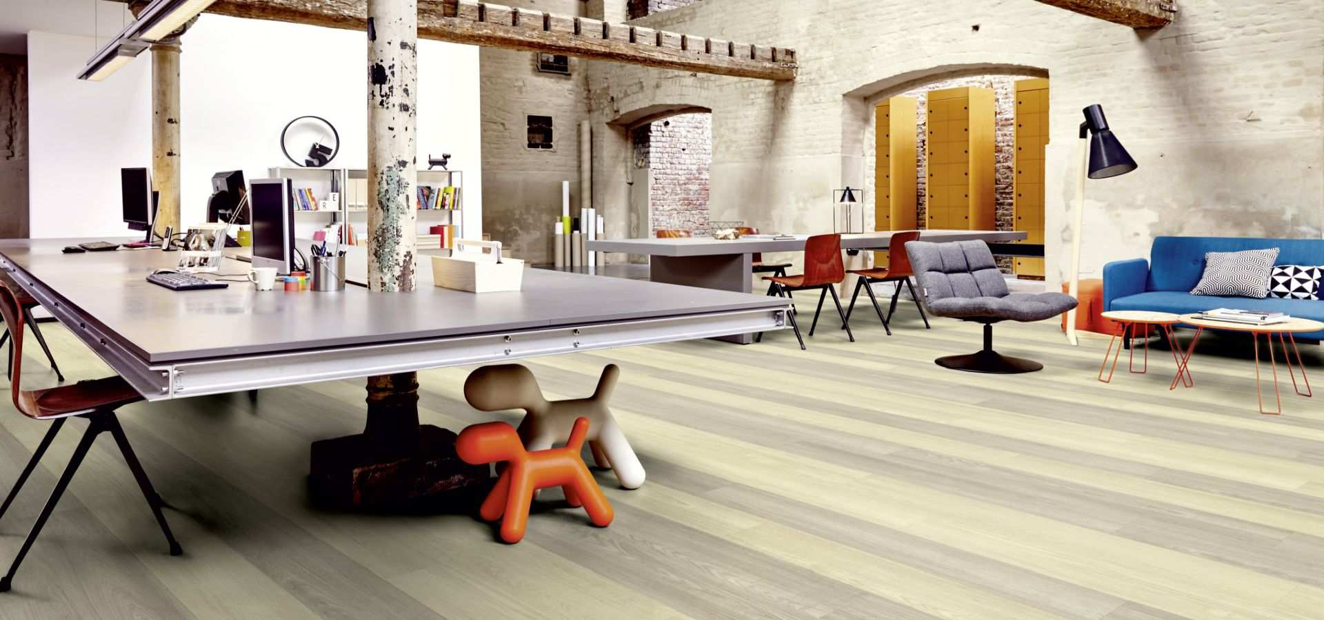 Bild Office Designbelag Planke hell
