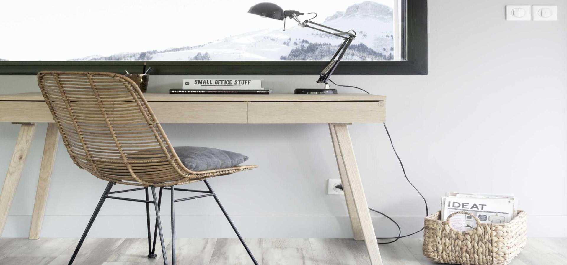 Bild Arbeitszimmer Designbelag weiß