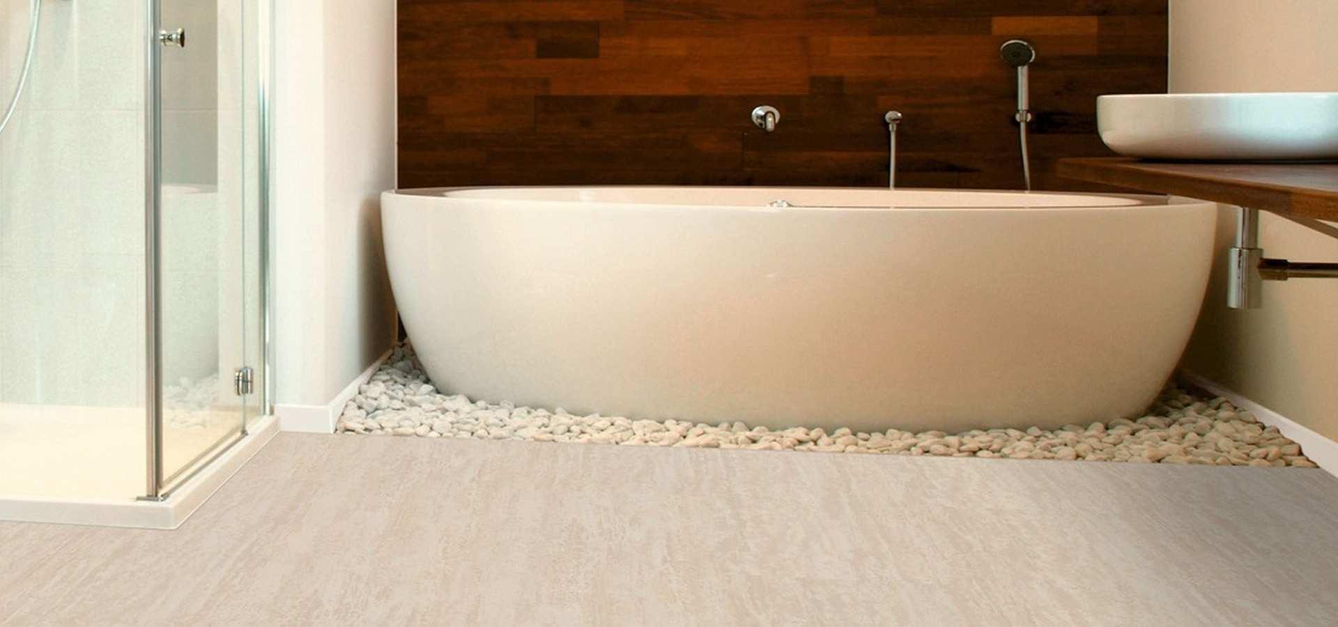 Bild Bad Vinylboden marmor beige