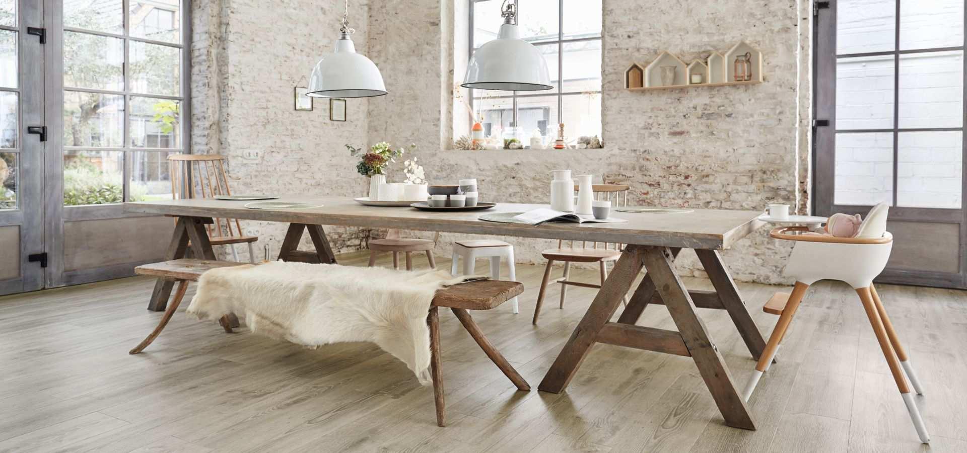 Bild Küche Designbelag Breitdiele Eiche hell