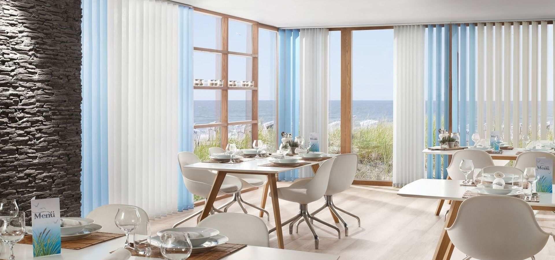 Bild Küche Flächenvorhänge hellblau