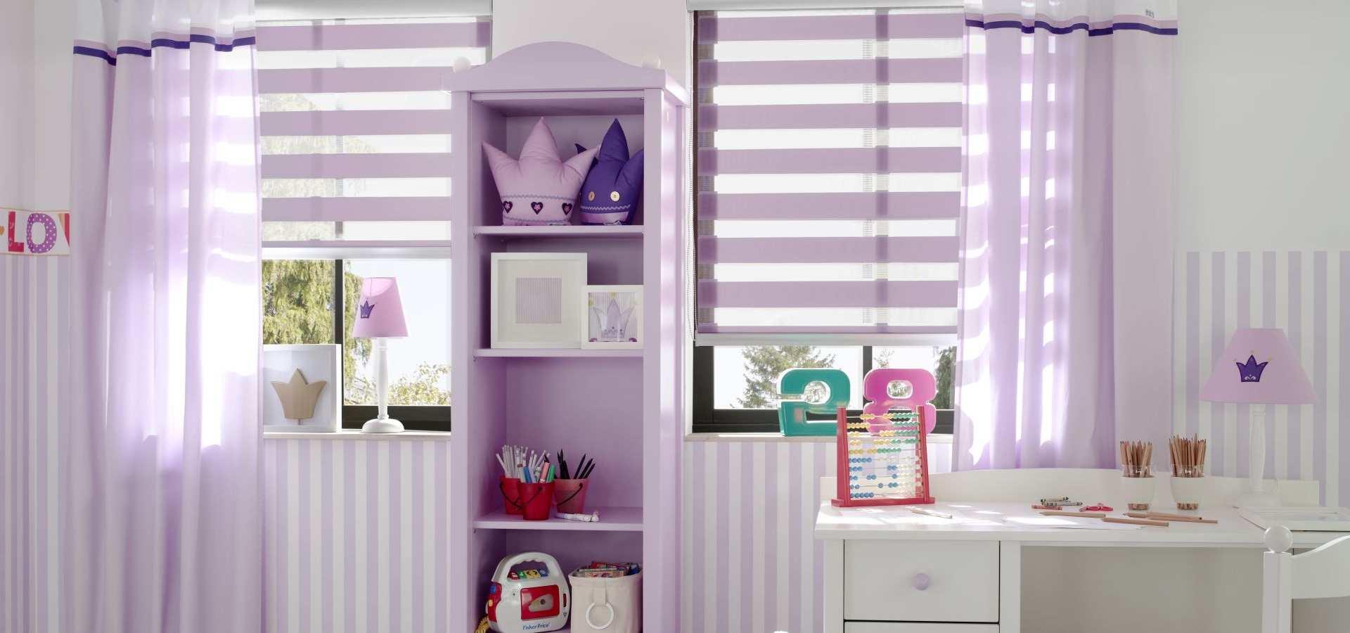 Bild Kinderzimmer Rollos lila