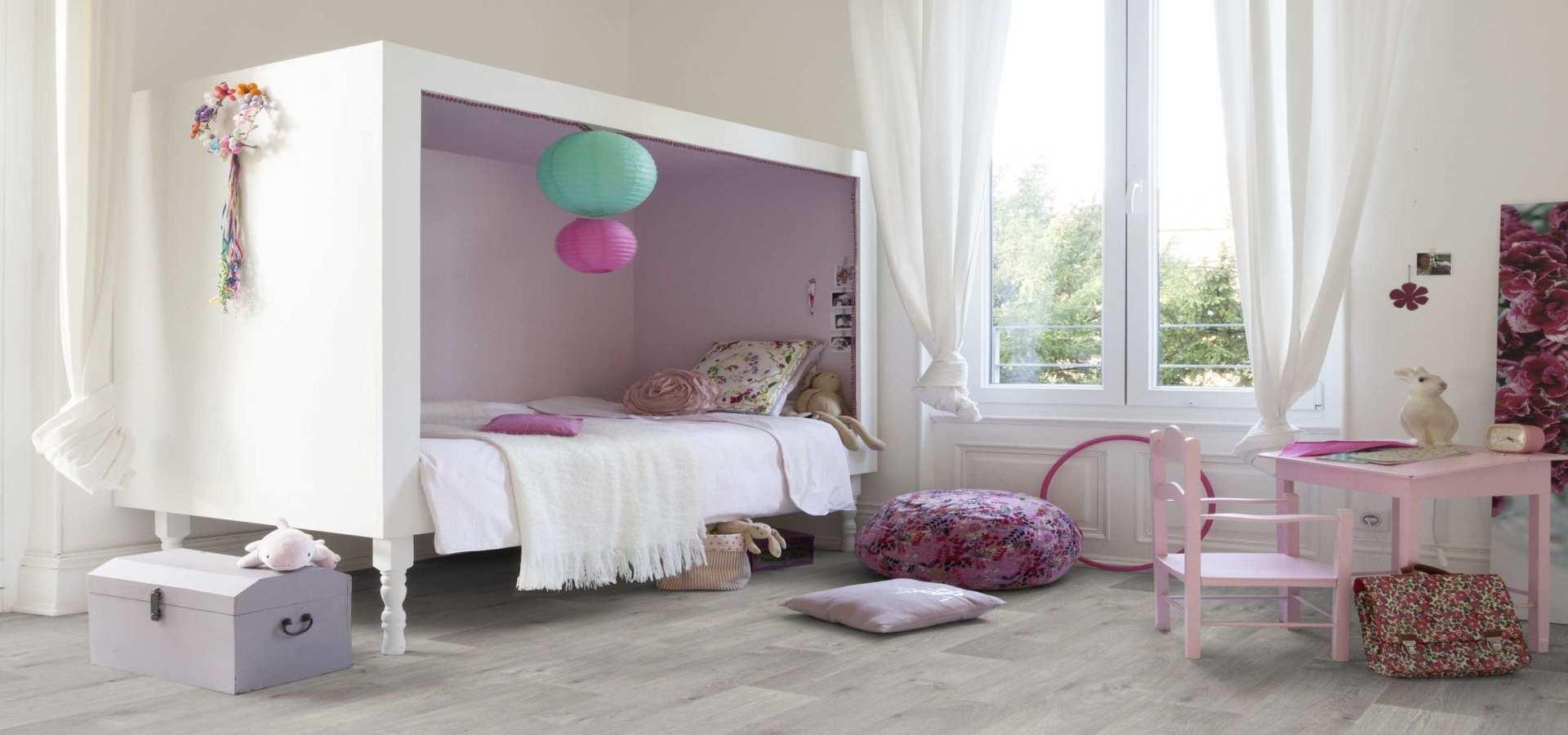 Bild Kinderzimmer CV Belag Holz Timber weiß
