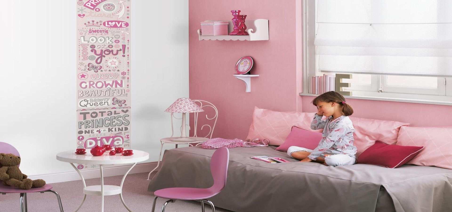 Kinderzimmer Tapete Prinzessin rosa