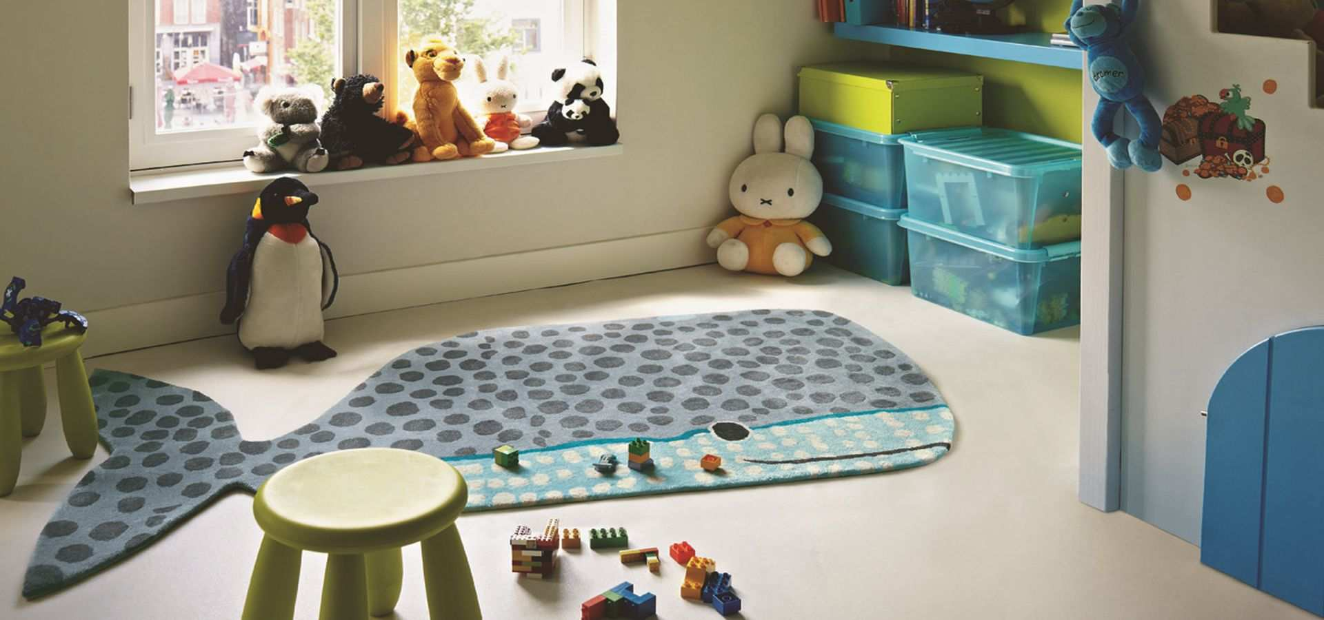 Bild Kinderzimmer Teppich Kids Buddy Wal