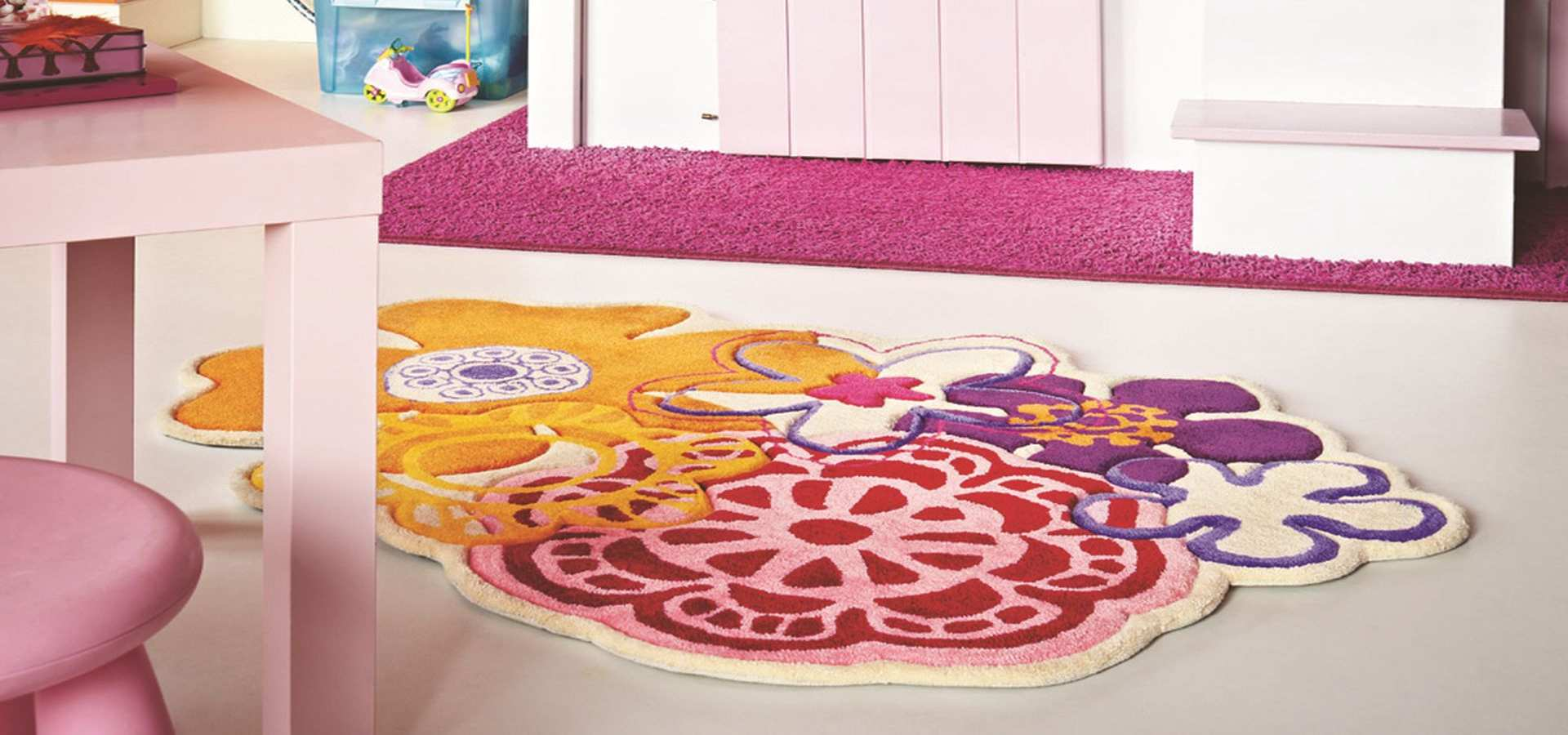 Bild Kinderzimmer Teppich Kids Fleur